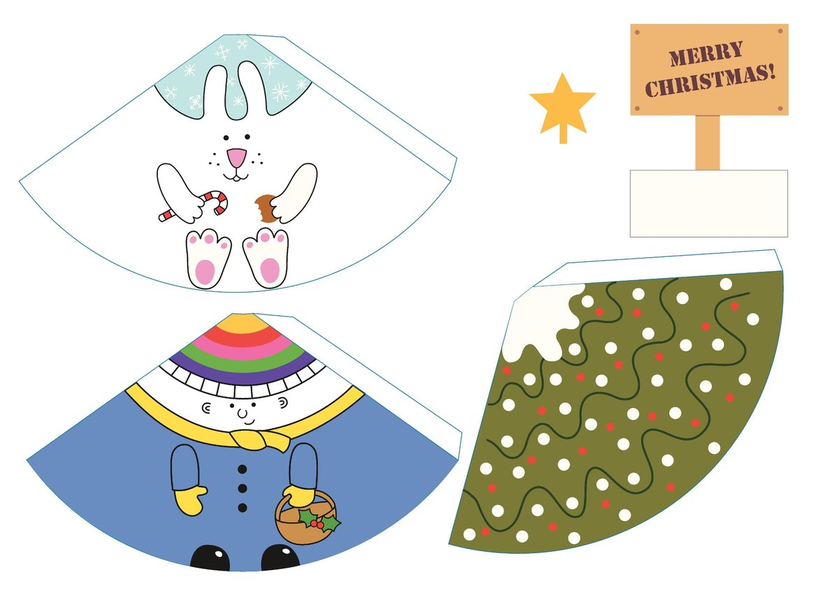 Новогодняя объемная игрушка из бумаги своими руками