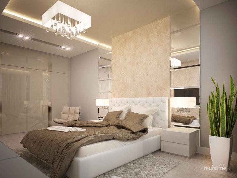 Фото дизайна спальни с зеркалами