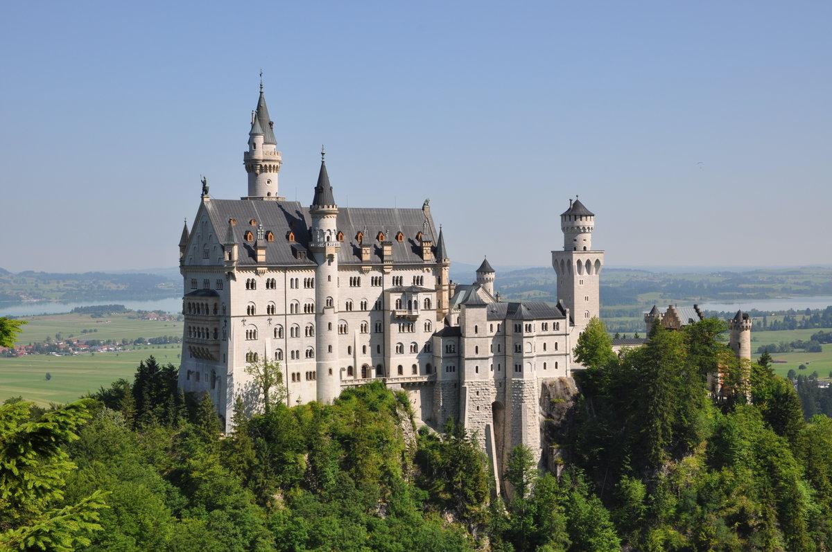 архитектура страны Замок Нойшванштайн Швангау Германия  № 2231468 бесплатно