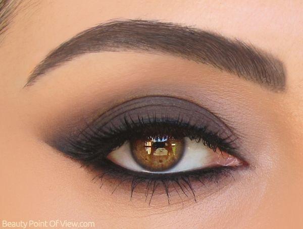 Макияж карие глаза серыми тенями
