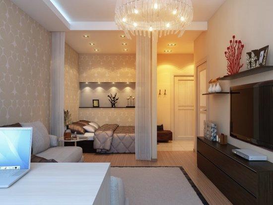 Фото идеи дизайна 1 комнатной квартиры