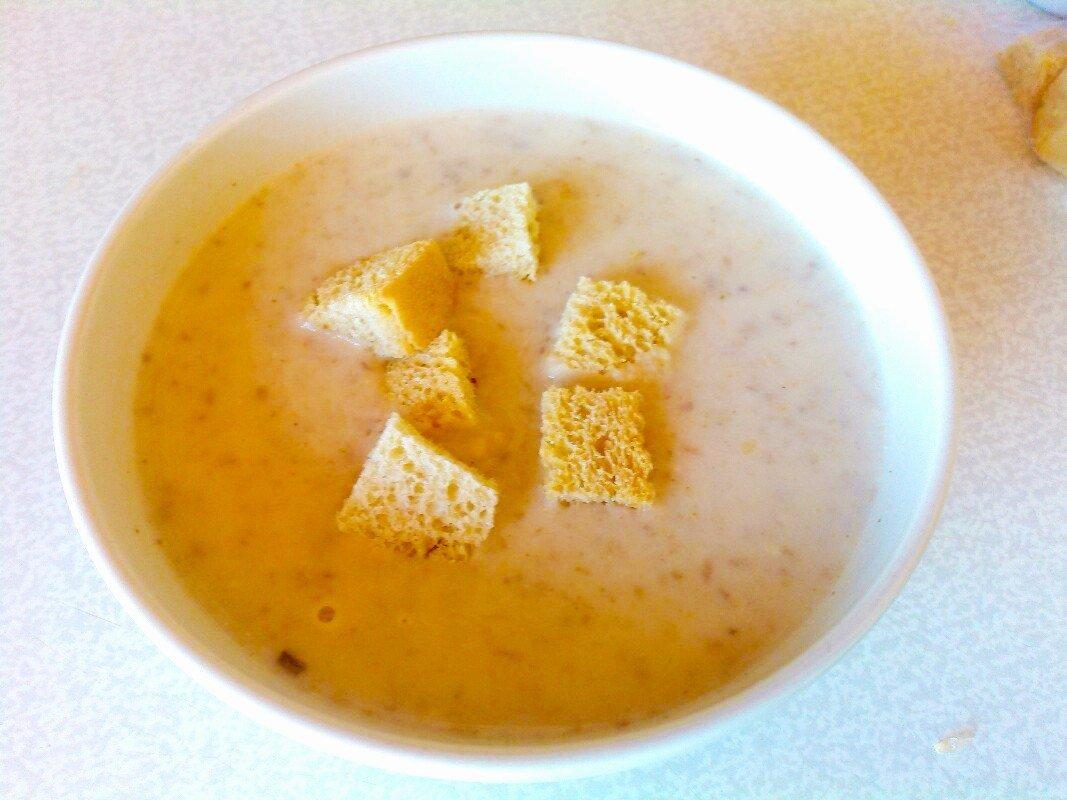 Рецепт грибного супа пюре пошагово