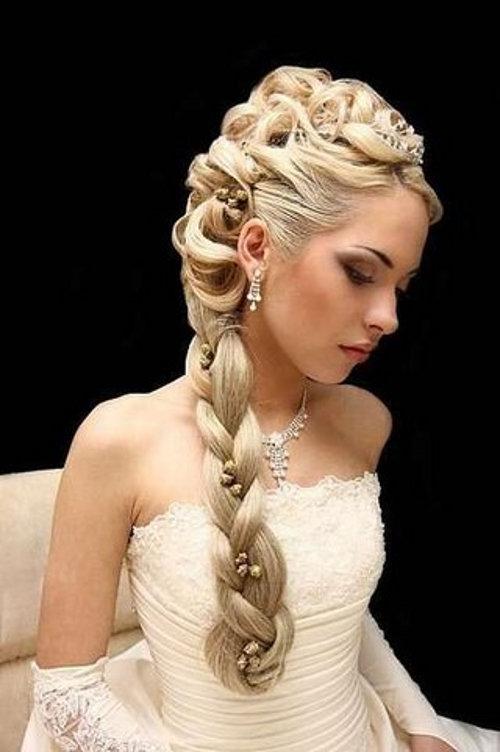 свадебные прически из косы картинки с описанием