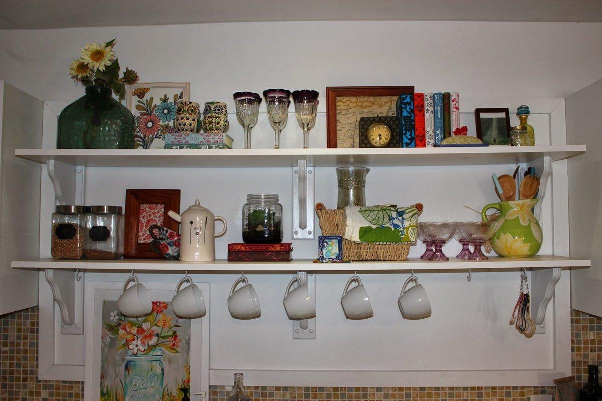 Открытые полки своими руками на кухню 277