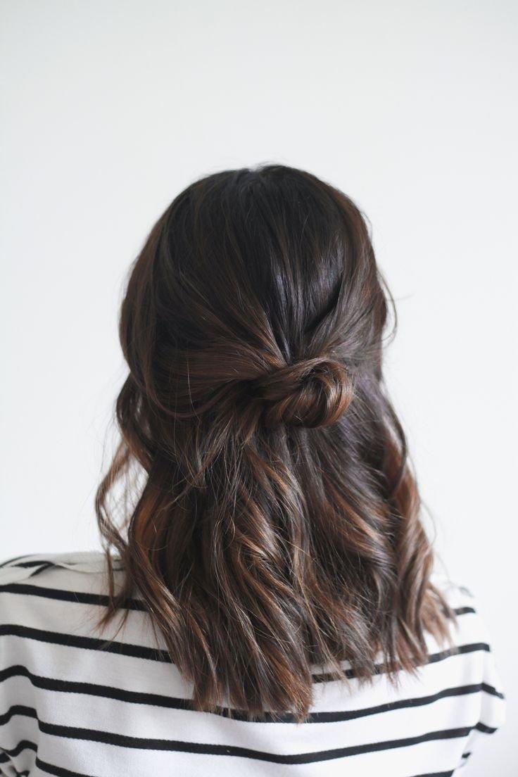 Прически на средние волосы до лопаток