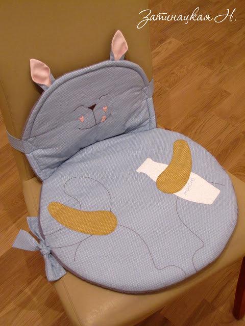 Подушка на стул своими руками