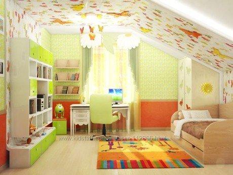 Дизайн детской мансарды
