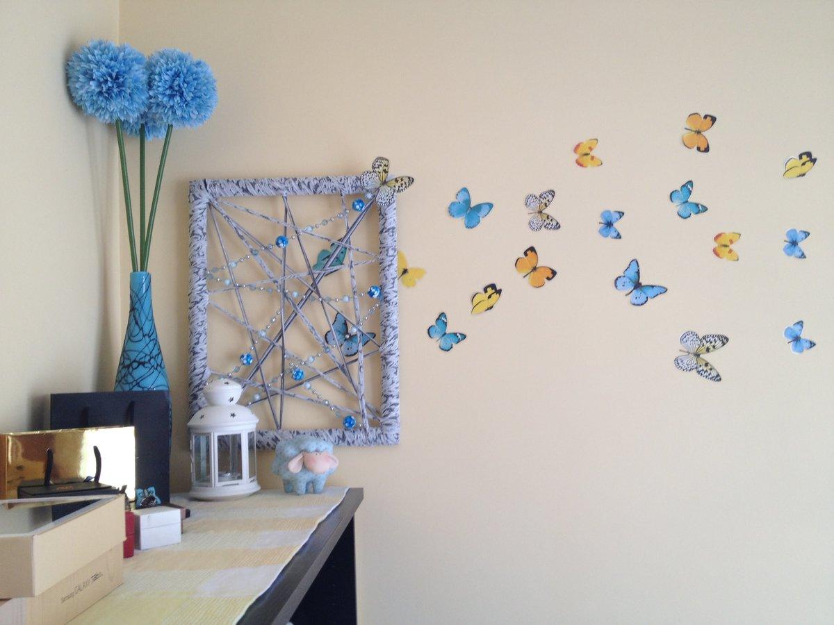 Декор детской комнаты бабочками своими руками