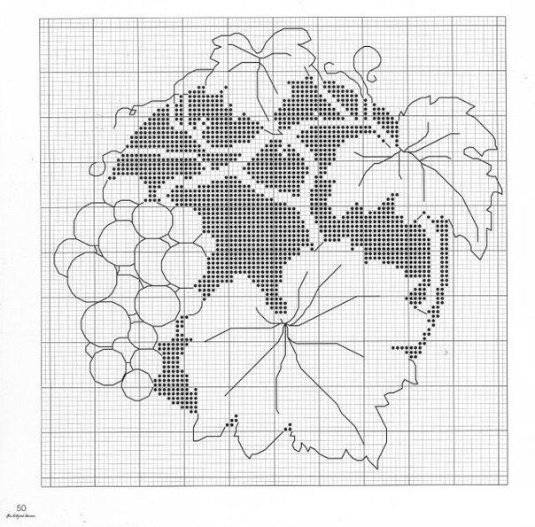 Схемы для вышивки монохром цветы 478