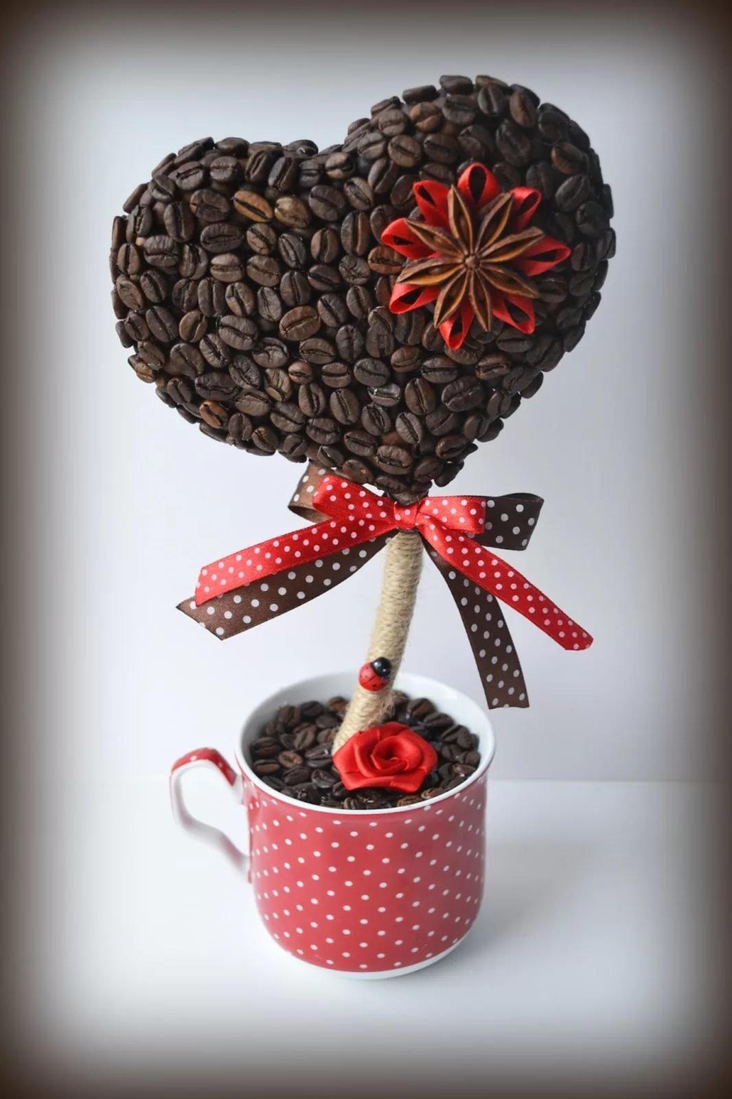 Все фото подарков из кофейных зерен