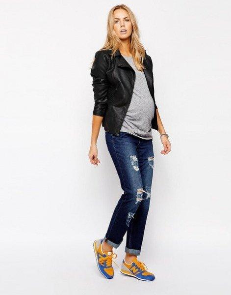 Как беременные носят джинсы