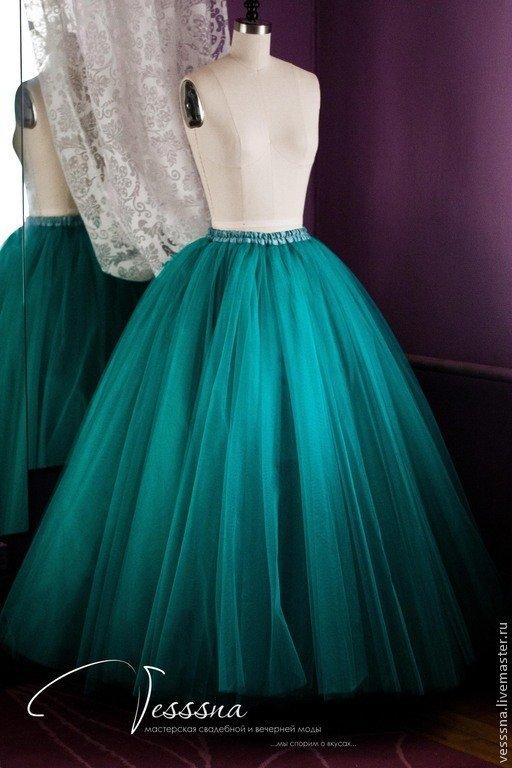 Сшить длинную юбку из фатина своими руками