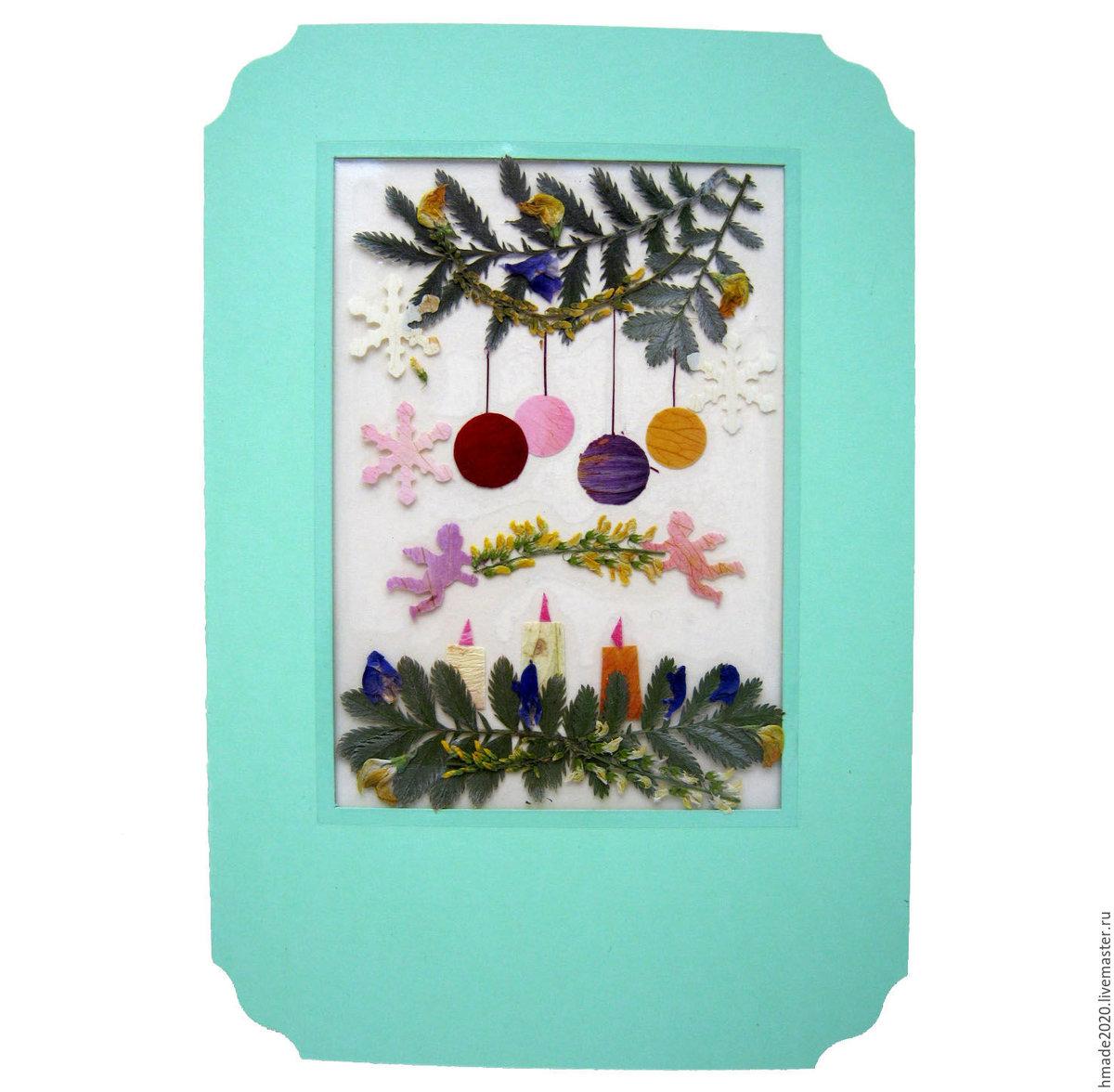 Открытки из засушенных цветов 36