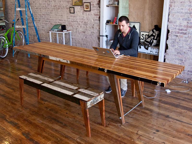 Большой обеденный стол своими руками 65