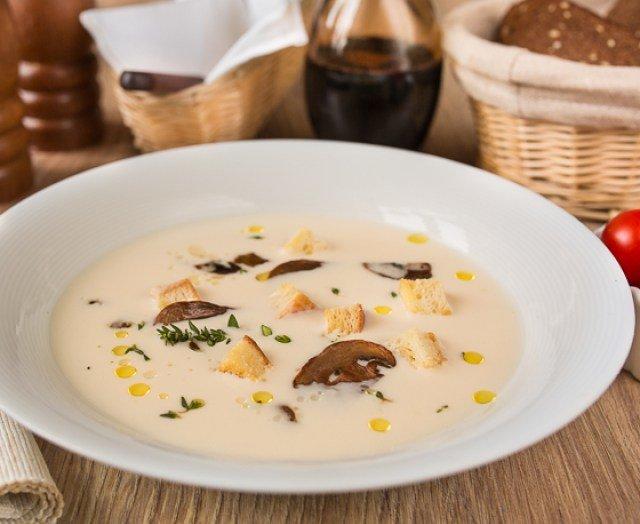 Сырный суп с шампиньонами и плавленным сыром рецепт пошагово