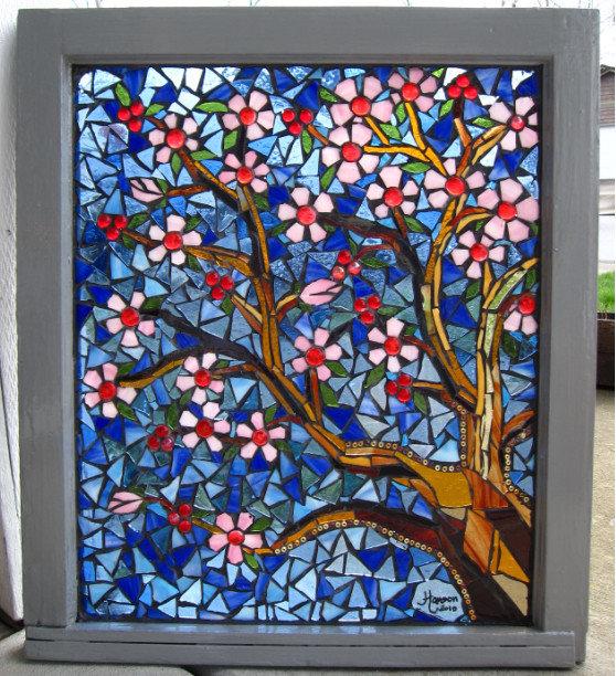 Мозаика стеклом