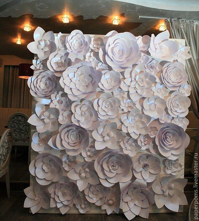 Как сделать большие бумажные цветы для свадьбы своими руками