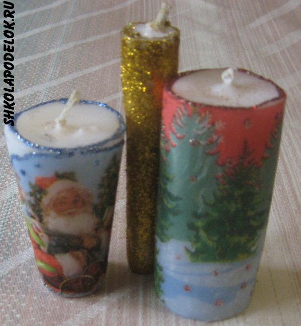 Мастер-класс новогодние свечи своими руками