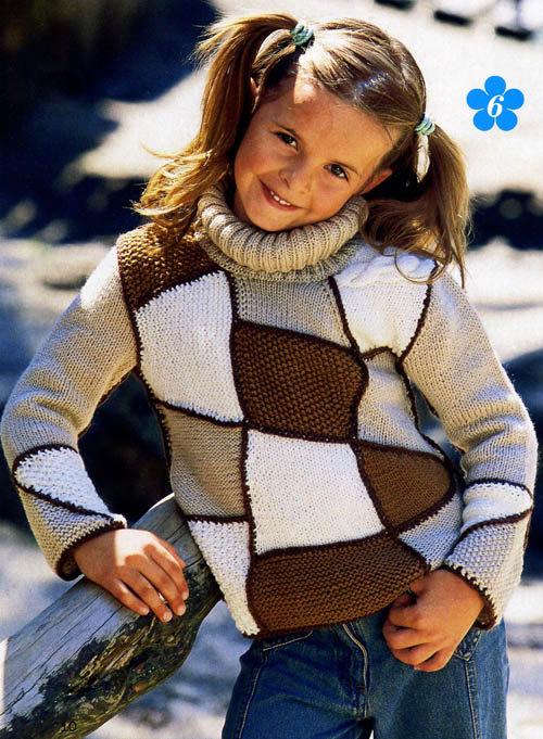 Вязание модели джемперов для девочек