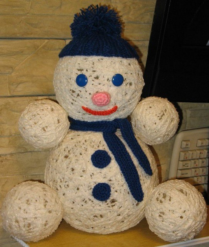 Поделки снеговиков на новый год своими руками