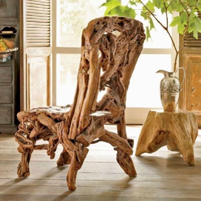 Кресла из корней деревьев своими руками