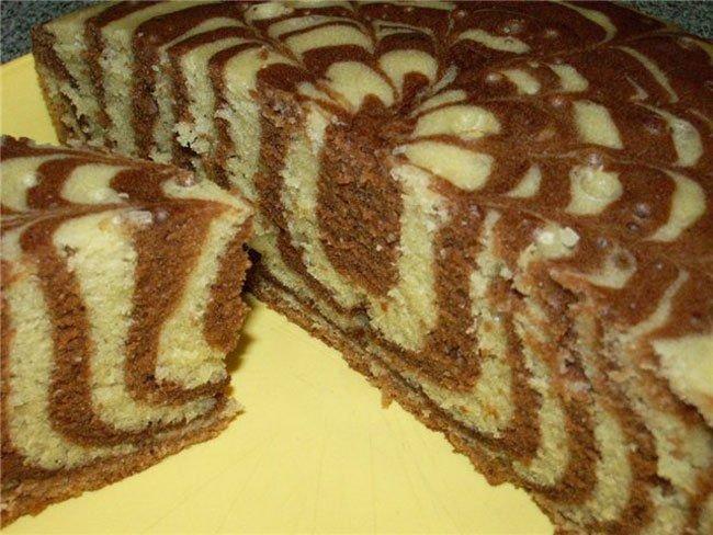 Рецепт пирог зебра пошаговый с фото