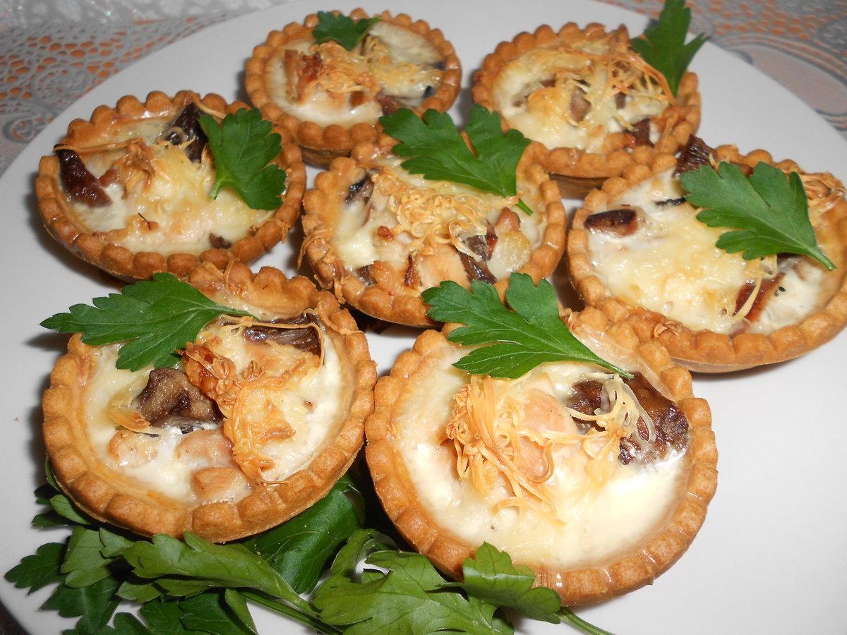 Рецепт жульен в тарталетках с грибами и курицей рецепт пошагово