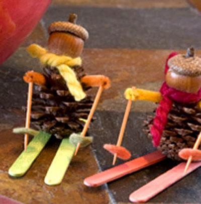 Поделки из шишек для детей. Поделки из природного материала - карточка от пользователя kseniya.ruda в Яндекс.Коллекциях