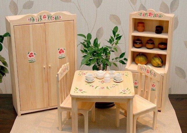 Игрушечная мебель для куклы своими руками