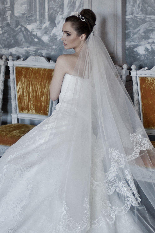 Фото свадебных причесок с длиной фатой