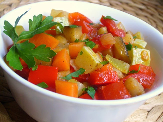 Овощное рагу рецепт с фото пошагово диетические
