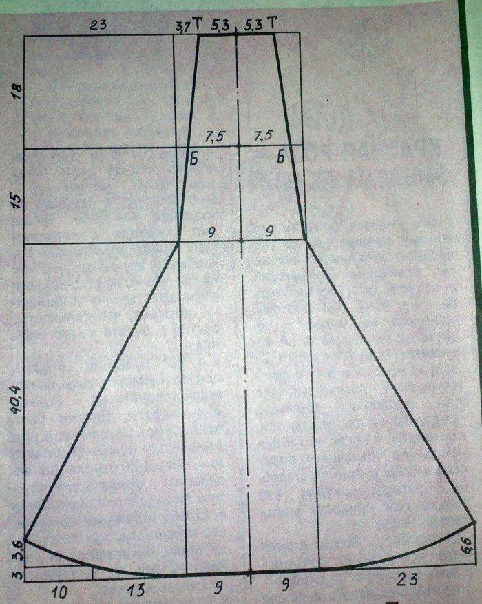 Выкройка юбка в пол сшить 6