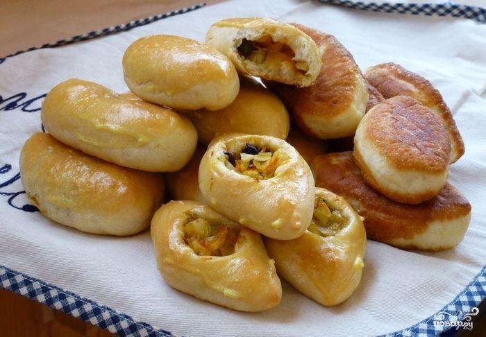 Пирог с грибами и капустой рецепт