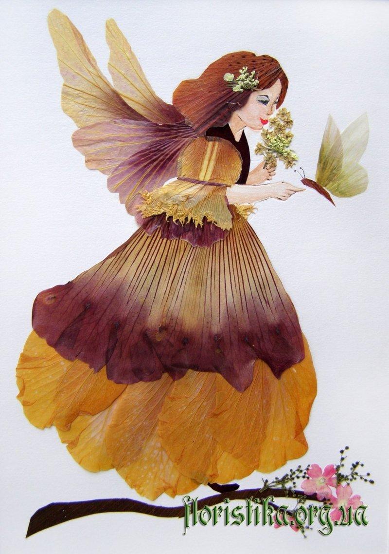 Картины из засушенных цветов и листьев своими руками