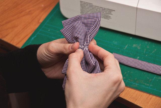 Бабочка на рубашку своими руками из ткани 99