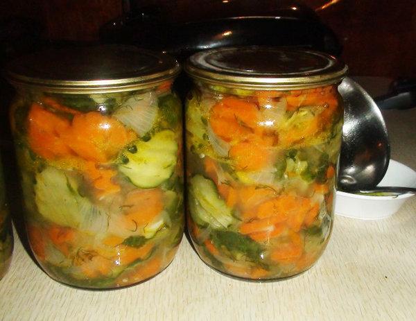 Салат из огурцов на зиму с пошаговым