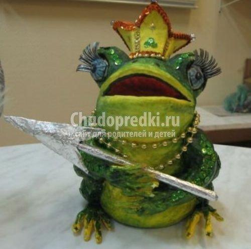 Копилка-лягушка из папье-маше своими руками 26