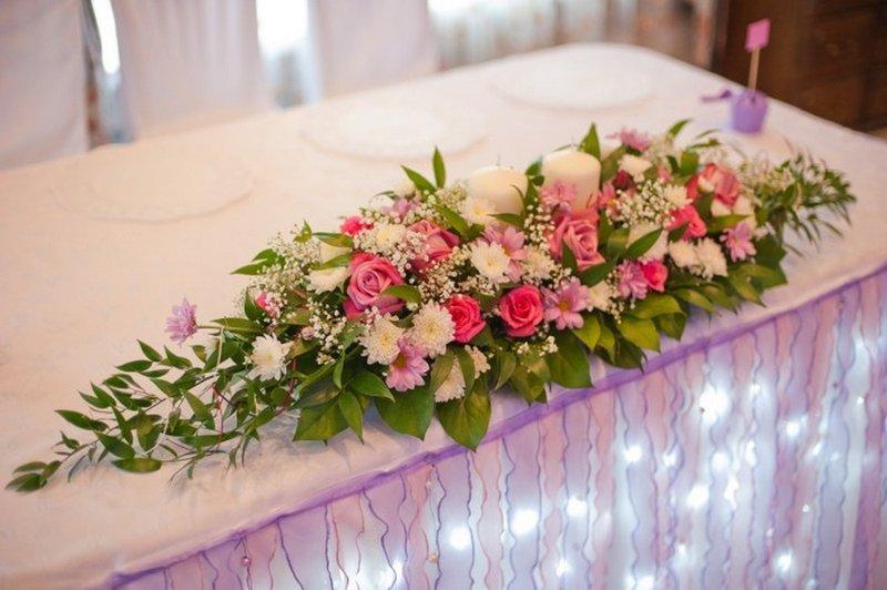Цветочные композиции из живых цветов на свадьбу