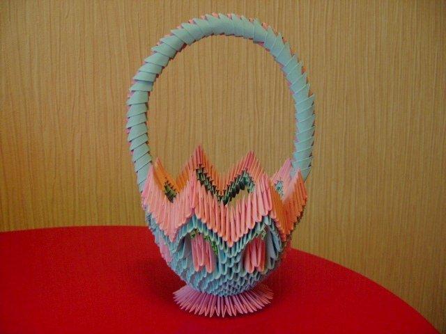 Корзиночка в модульном оригами