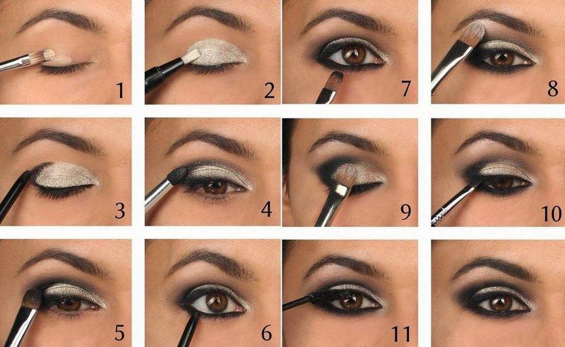 Как сделать макияж вечерний пошагово