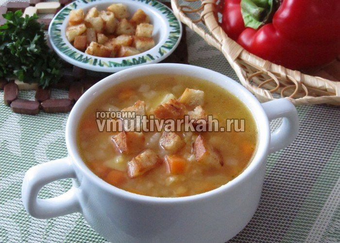 Суп гороховый постный в мультиваркеы с фото