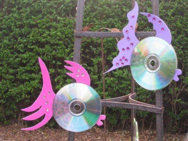 Поделки для сада из дисков