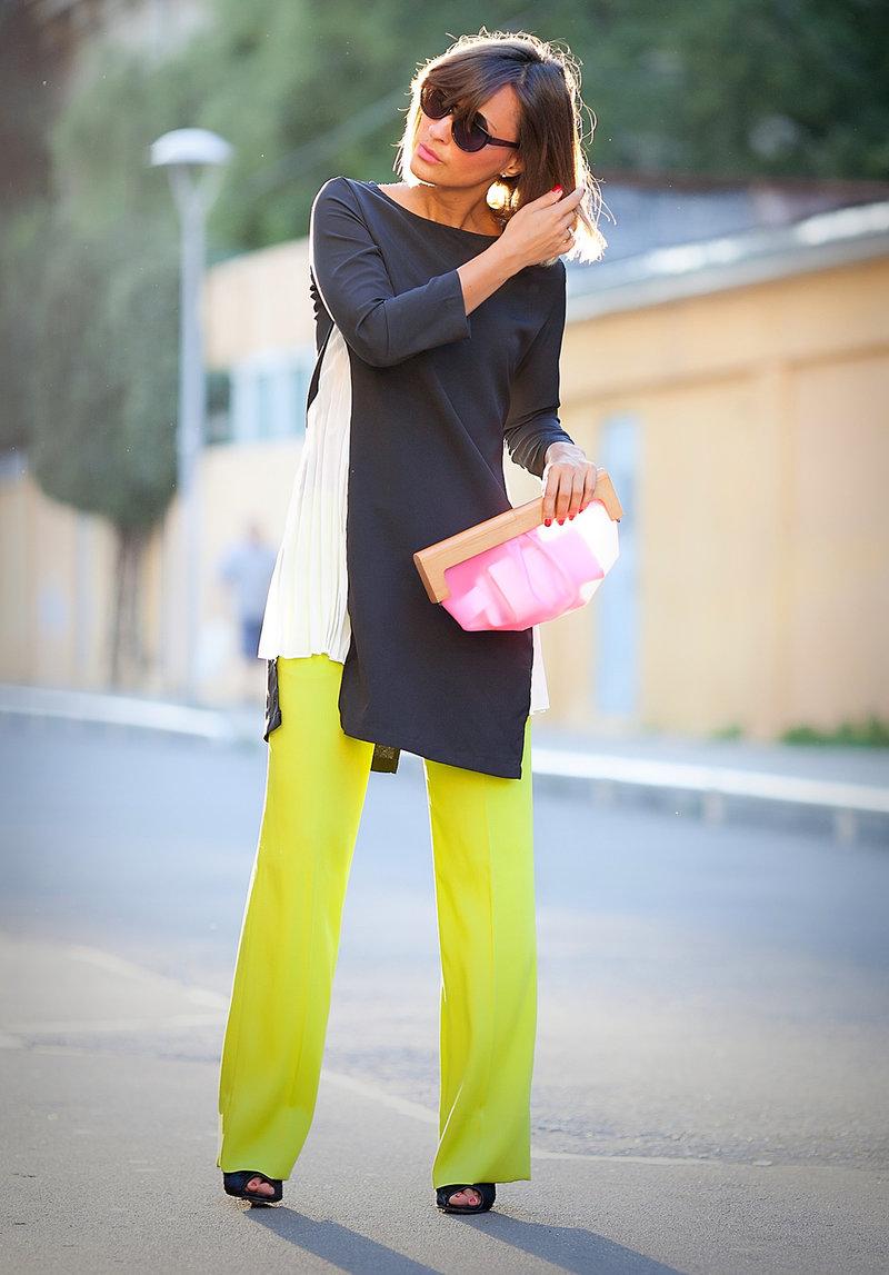 Модные платья с брюками
