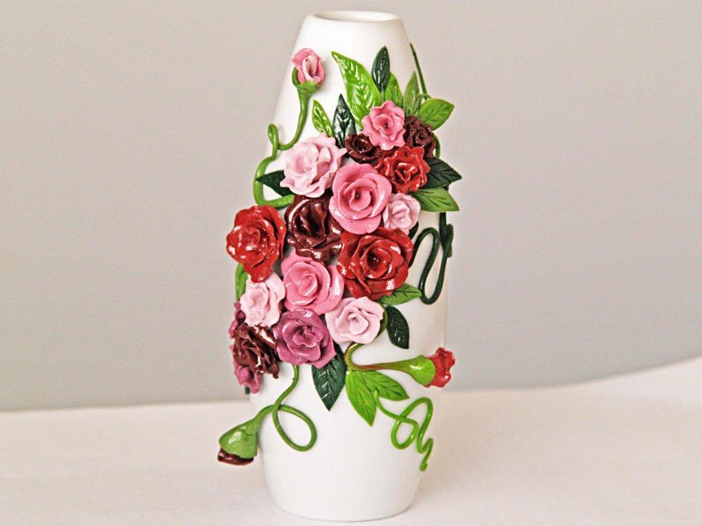 Оформить вазу для цветов своими руками 5