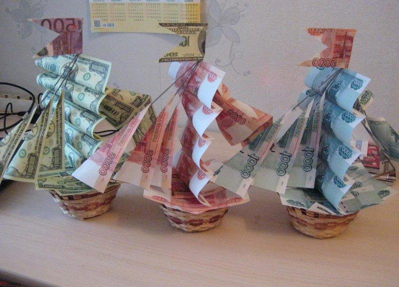 Оригинальный подарок на свадьбу молодоженам из денег своими руками
