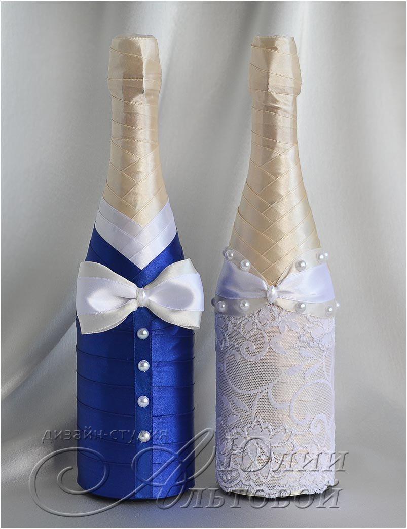 Бутылки на свадьбу своими руками пошаговое фото 105