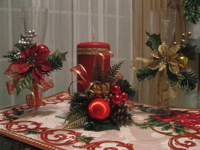 Новогодние свечи украшения своими руками