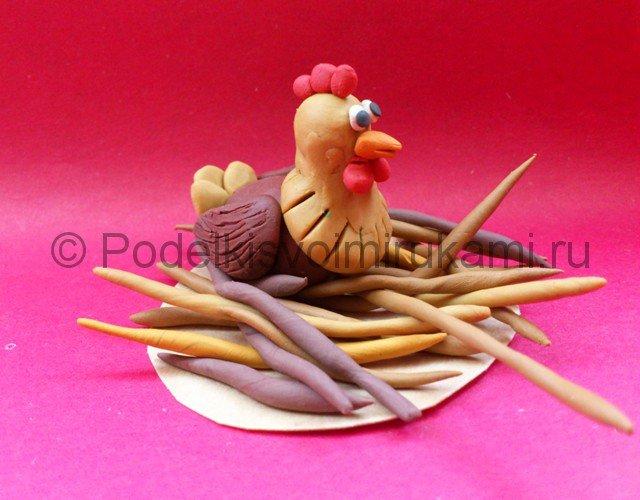 Как сделать курица из пластилина