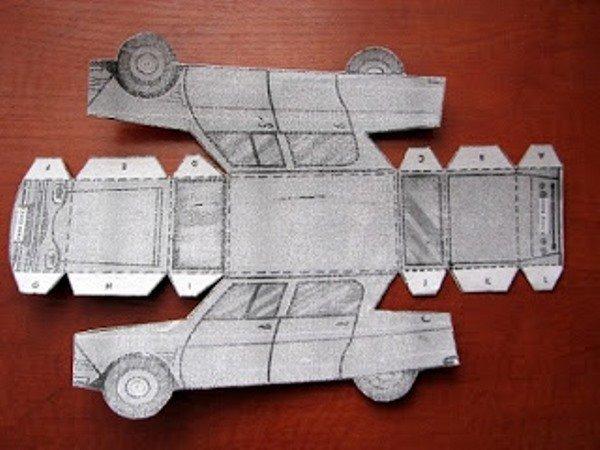 Макет машины сделать из картона