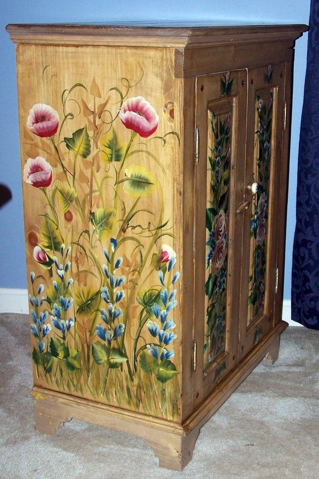 Мебель своими руками красками 37